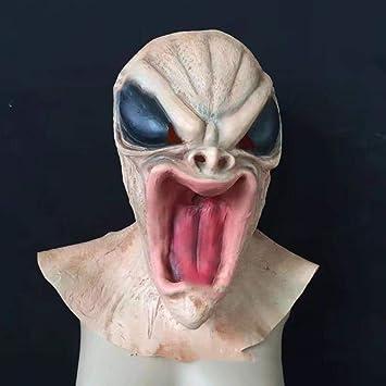Circlefly Halloween Peluca Alien albergue casa embrujada Terror Thriller de Terror Mascara de Alien