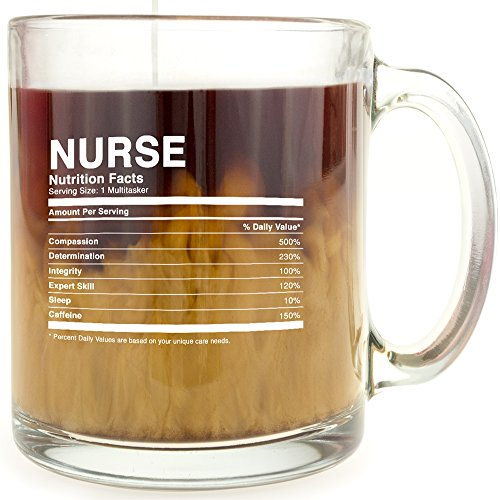 Nurse Nutrition Facts Glass Coffee product image