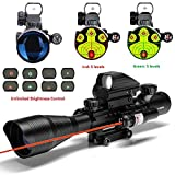 MidTen 4-12x50 Dual Illuminated Scope with Dot Sight & Laser Sight & 20mm Mount