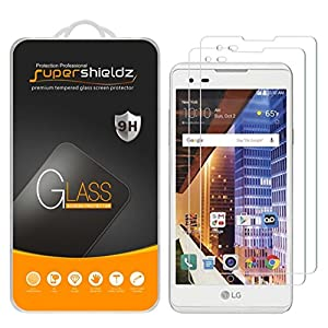 [2-Pack] Supershieldz for LG X Style Tempered Glass Screen Protector, Anti-Scratch, Anti-Fingerprint, Bubble Free, Lifetime Replacement Warranty