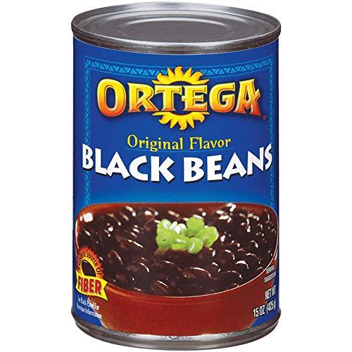 - Ortega Black Beans, Original Flavor, 15 Ounce (Pack of 12)