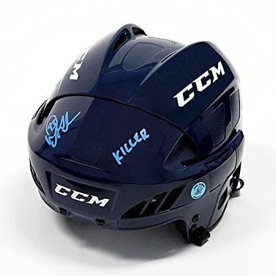 Doug Gilmour Autographed CCM Hockey Helmet with Killer Note - Toronto Maple Leafs - Authenticity Guaranteed