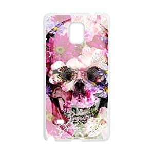 Custom Case for Samsung Galaxy Note 4 with Personalized Design Beautiful flower skulls