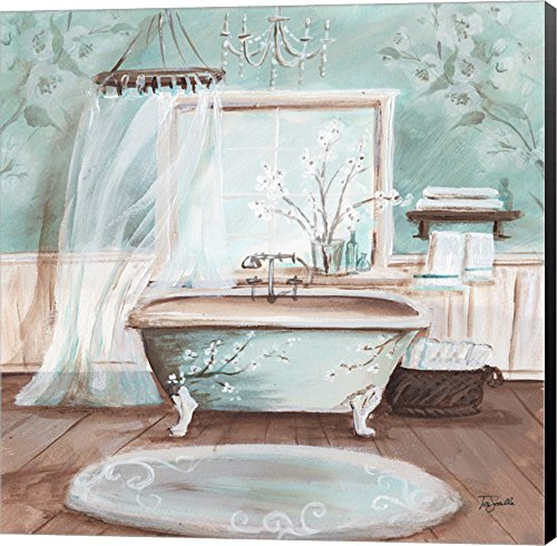 Aqua Blossom Bath II by Tre Sorelle Studios - Parisian wall art