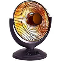 Space Heater Electric Parabolic Oscillating Infrared Radiant W/Timer Home office