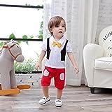 XM Nyan May's Baby Toddler Boy Bow Tie Tuxedo Pants