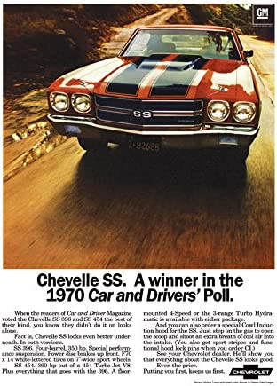 "Drag racing ho rod muscle cars chevrolet chevelle Poster 24/"" x 36/"" HD"