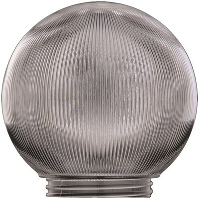REPLACEMENT ACRYLIC PRISM GLOBE FOR CEILING FIXTURE, CLEAR, 6 IN., 3-1/4 IN. FITTER, 5 PER BOX (Prism Globe)