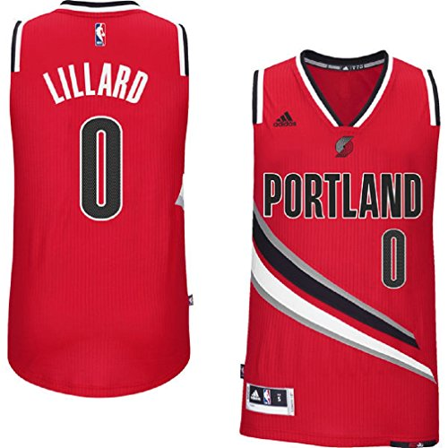 Damian Lillard Portland Trail Blazers #0 NBA Youth Alternate Swingman Jersey Red (Youth Small 8) (Swingman Portland Trailblazers Jersey)