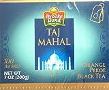 Brooke Bond Taj Mahal ORANGE PEKOE BLACK TEA 100 TEA BAGS (Pack of 2, Total Weight 14 OZ (400 g) 200 TEA BAGS