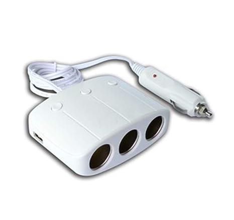 SryWj Dispensador De Zócalo 12V / 24V del Adaptador del Encendedor De Cigarrillos del Coche con