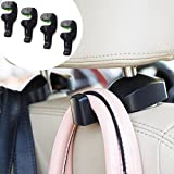 Pack of 4 Universal Car Vehicle Back Seat Headrest Hanger Holder Hook for Bag Purse Cloth Grocery