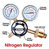 Nitrogen Regulator 3000 PSI - CGA580 Inlet Connection and 1/4-Inch Male Flare Outlet Connection Adjustable Gas regulator HVAC Durable Brass Accurate and Dependable