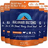 Kalahari Biltong | Air-Dried Thinly Sliced Beef | Original | 2oz (Pack of 5) | Zero Sugar | Keto & Paleo | Gluten Free | Better than Jerky