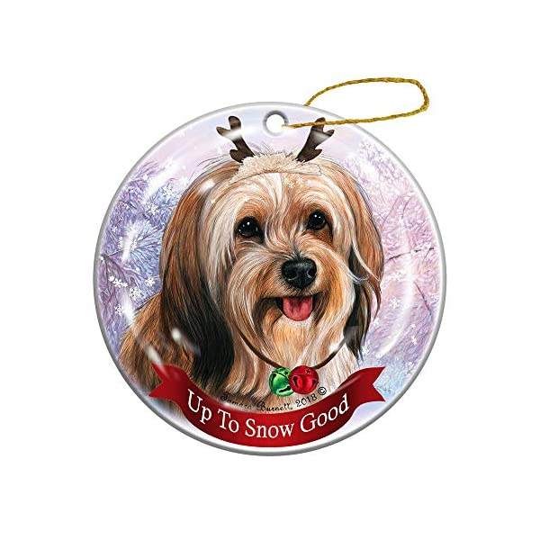 Holiday Pet Gifts Sable Tibetan Terrier Dog Porcelain Christmas Ornament 1