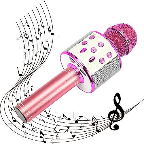 SUGOO Karaoke Microphone for Kids, Singing Machine Microphone Birthday Family Party Gift for Girls Boys Children Kids Age 6-15 Year Old Girl Gift Wireless Microphone Bluetooth Purple Mic by SUGOO (Image #7)