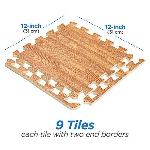 Basics Hardware Interlocking Puzzle Wood Mat (Light Wood)