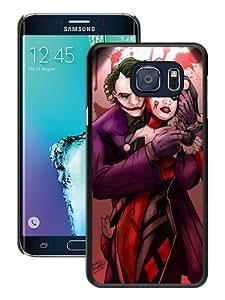 Hot Sale Samsung Galaxy S6 Edge+ Case,Joker And Harley Quinn Love Black Samsung Galaxy S6 Edge Plus Screen Phone Case Unique and Fashion Design