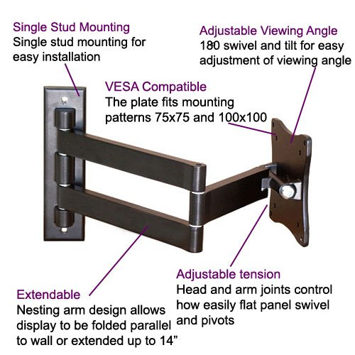 Amazon.com: VideoSecu Swingout Tilting Arm TV Wall Mount for Most 10