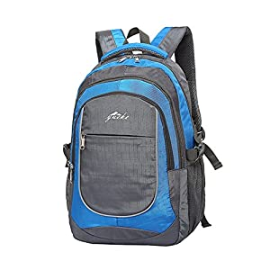 ProEtrade Water Resistant Travel Outdoor Laptop college School backpack daypack (Blue)