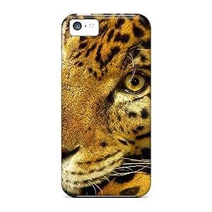 New Premium Flip Case Cover Animals Beasts Jaguar Skin Case For Iphone 5c