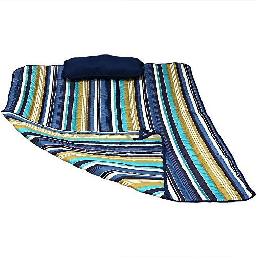 Sunnydaze Polyester Quilted Hammock Pad and Pillow Set Only, Outdoor Weather-Resistant, Lake View