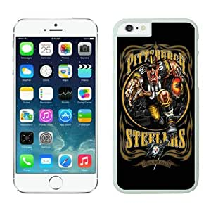 Pittsburgh Steelers 01 White Custom Phone Cover Case For iPhone 6 4.7 Generation