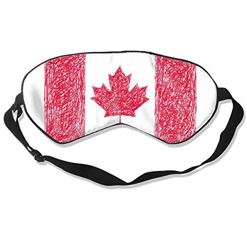 Best Halloween Masks Canada (Sleep Mask Canada Flag for Women & Men Night Blindfold Light Blocking Comfortable Eye Shade Sleeping Aid with Adjustable Strap for Travel Nap Shift)