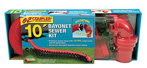 RV Trailer Camper Ez Coupler Bayonet Sewer Kit Standard VALTERRA D04-0114