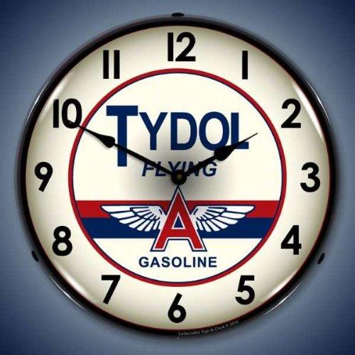Tydol Flying A Lighted Wall Clock