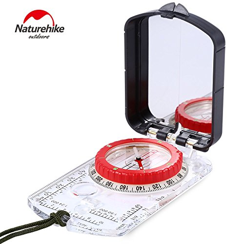 NatureHike Outdoor Multi Functional Navigation Compass - Luminous Explorer Compass Waterproof and Shakeproof for Expedition Map reading, Orienteering and Survival Mountaineering or - Directions Mall America To Of