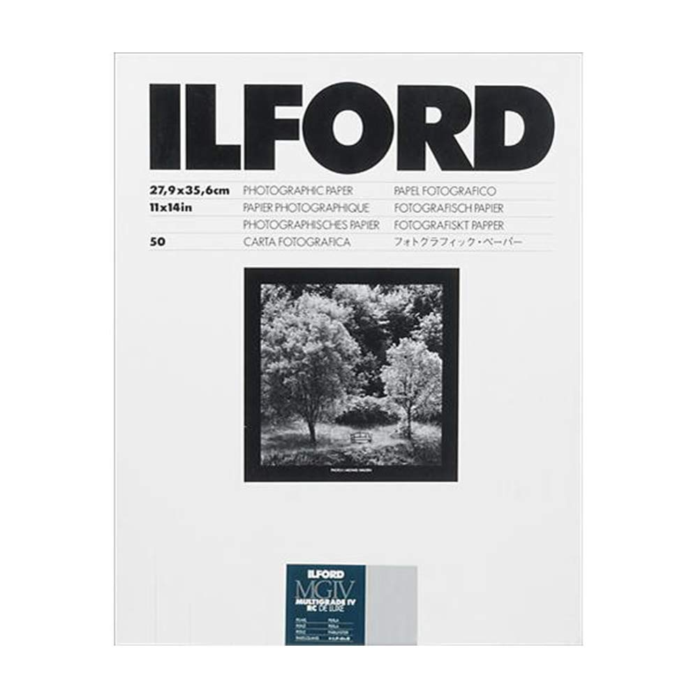 Ilford Multigrade IV RC Deluxe Resin Coated, 11x14, Pearl, VC Paper, 50 Pack (1771578) by Ilford
