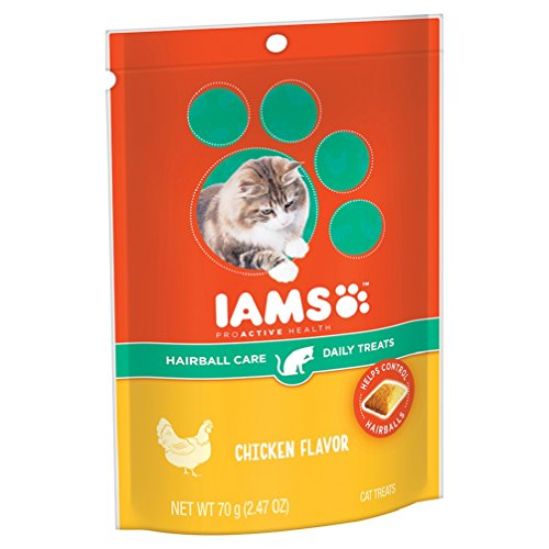 IAMS-PROACTIVE-HEALTH-Hairball-Care-Daily-Treats-for-Cats-Chicken-Flavor-247-Ounces-Pack-of-10