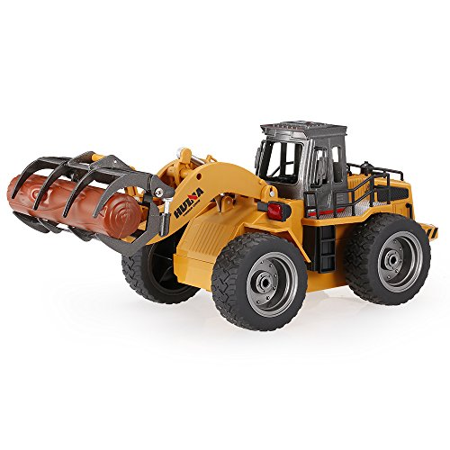 Geminismart Famous In-Home Learning Brand 1/50 Scale Diecast Articulated Dump Truck Engineering Vehicle Construction Alloy Models Toys Kids Decoration House (Timber Grab Truck)