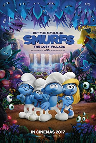 Smurfs The Lost Village 2017 Original Movie Poster - Dbl-Sided