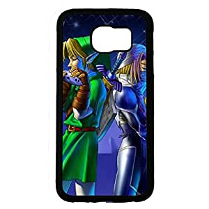 Custom The Legend of Zelda Series,Link Image Design Black Hard Plastic Case Cover For Samsung Galaxy S6 Legend of Zelda Phone Case