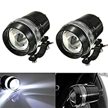 KATUR 2x 30W Black Shell External Waterproof U3 Motorcycle LED Driving Headlight fog Spot Light
