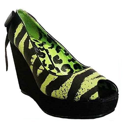 Iron Fist One Hand In The Grave Wedge Black/Green (UK 6 / EU 39)
