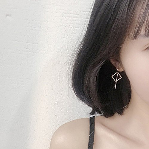 - A&C Fashion Korean Version Alloy Geometric Shapes Earrings for Women. Unique Handmade Earrings Jewelry for Girl. (Silver Color)