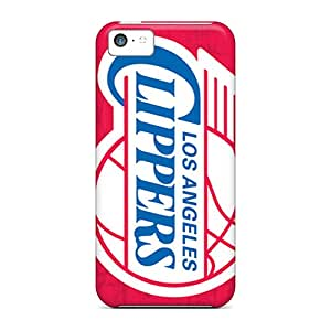 AnnaDubois Iphone 5c Scratch Protection Mobile Case Support Personal Customs Stylish Los Angeles Clippers Image [lny10997MbjN]