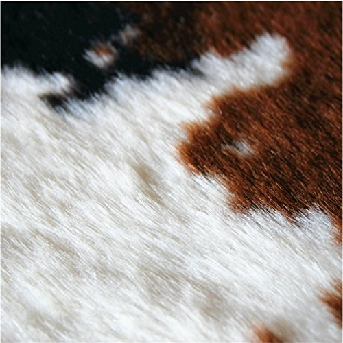 Cow Print Rug 5.1 x 4.6 Feet faux Cow Hide Rug Animal Printed Area Rug Carpet for Home Office