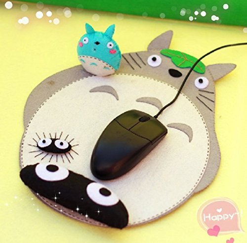 Sytian® DIY My Neighbor Totoro Non-woven Wrist Mouse Pad Material Bag DIY Handmade Decorative Totoro Mouse Pad Material Bag Cute Desk Decor Very Good …