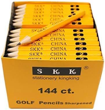 SKKSTATIONERY Golf Pencil, Half Pencils,3.5