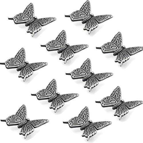 10 Pcs Butterfly Alloy Cabinet Knobs, 43mm Butterfly Shape Drawer Kitchen Cabinets Dresser Cupboard Wardrobe Pulls Handles (as Shown) by cyclamen9 (Image #8)