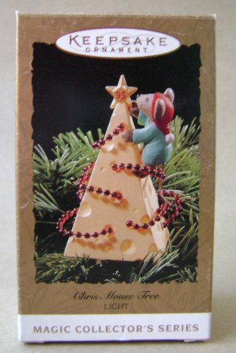 (Hallmark Keepsake Chris Mouse Tree Light Up Christmas Tree Ornament Magic Collector's Series - Handcrafted - Great for hanging on wreaths or christmas trees)