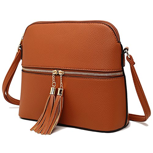 Tassel Bag pocket Strategy zipper Crossbody with pull Phone Style Blue xwAqYTZRZ