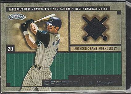 f65a71ee9e8 2002 Fleer Showcase Luis Gonzalez Diamondbacks Game Used Jersey Baseball  Card  20