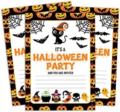 photo regarding Halloween Invitation Printable identify Darling Souvenir White Halloween Invitation Card Printable