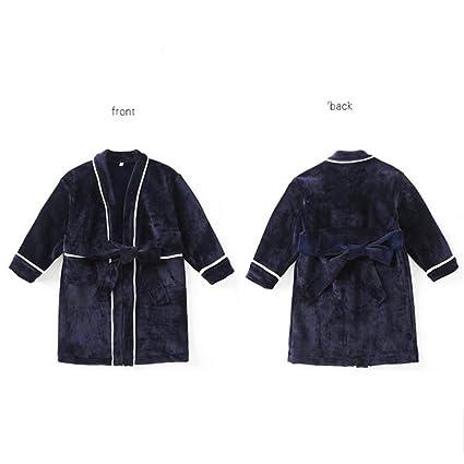 SY Pijamas cómodos para el hogar Tienda de algodón con Bolsillos Albornoz - Otoño e Invierno