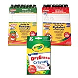 Preschool Prep Wipe Clean Learning Activity Flip Books for Ages 2-4 w/ 8pk Dry Erase Crayons - Numbers/Letters
